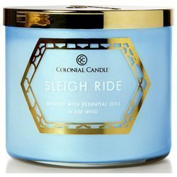Colonial Candle Luxe large soy scented candle 3 wicks 14.5 oz 411 g - Sleigh Ride
