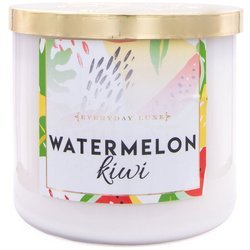 Colonial Candle Luxe large soy scented candle 3 wicks 14.5 oz 411 g - Watermelon Kiwi