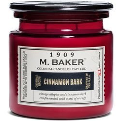 Colonial Candle M. Baker large soy scented candle apothecary jar 14 oz 396 g - Cinnamon Bark