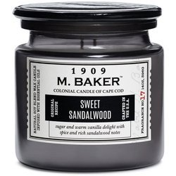 Colonial Candle M. Baker large soy scented candle apothecary jar 14 oz 396 g - Sweet Sandalwood