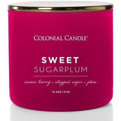Colonial Candle Pop of Color large soy scented candle 3 wicks 14.5 oz 411 g - Sweet Sugarplum