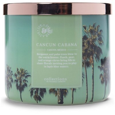 Colonial Candle Travel large soy scented candle 3 wicks 14.5 oz 411 g - Cancun Cabana