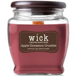 Colonial Candle Wick soy blend wood wick scented candle jar 15 oz 425 g - Apple Cinnamon Crumble