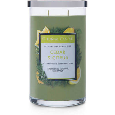 Colonial Candle large scented jar candle 18 oz 510 g - Cedar & Citrus