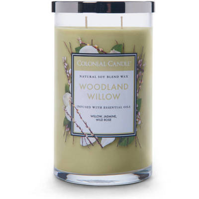 Colonial Candle large scented jar candle 18 oz 510 g - Woodland Willow