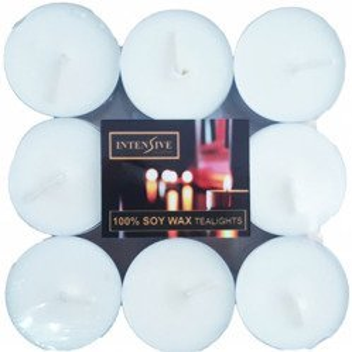 INTENSIVE COLLECTION 100% Soy Wax Tealights podgrzewacze sojowe bezzapachowe świeczki do masażu 9 szt ~ 4 h