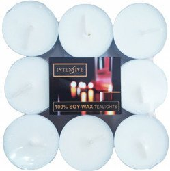 INTENSIVE COLLECTION pure soy wax unscented tealights 18 pcs