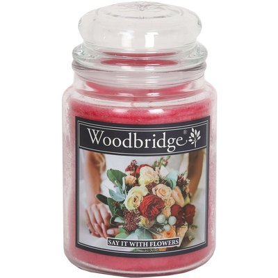 Woodbridge Scented Candle Large Jar 2 wicks 565 g - Say It With Flowers