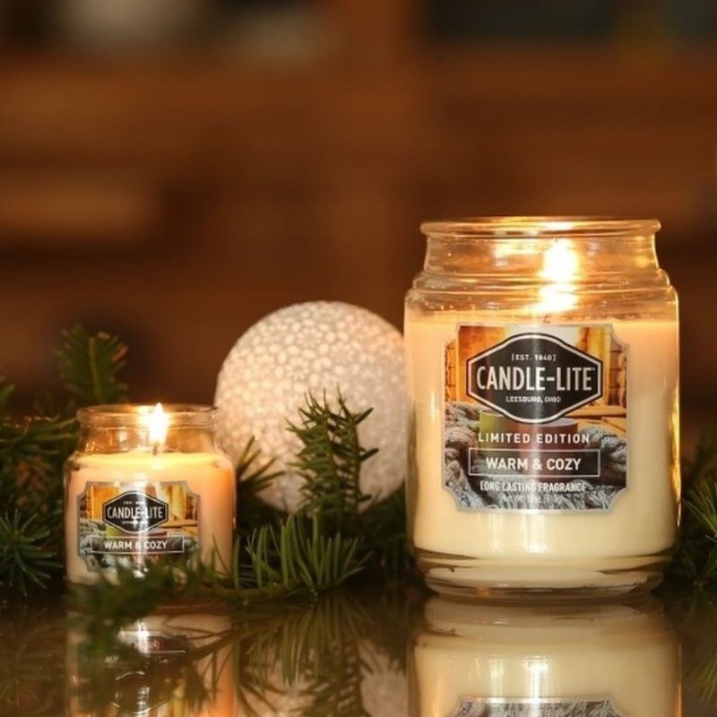 Candle Lite Everyday Collection Large Scented Jar Glass Candle 18 Oz 145 100 Mm 510 G 110 H Warm Cozy Warm Cozy Cwstore B2b Wholesale Candle Distributor