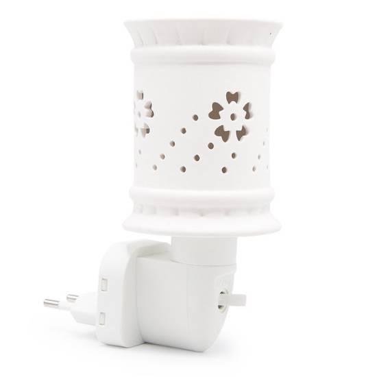 Electric wax burner Sula for socket white ceramic