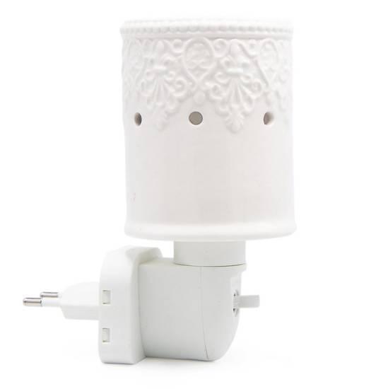 Electric wax burner Paarl for socket white ceramic