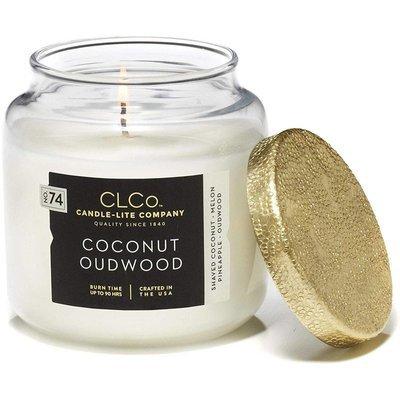 Candle-lite CLCo Candle Jar 14 oz luksusowa świeca zapachowa w szklanym słoju ~ 90 h - No. 74 Coconut Oudwood