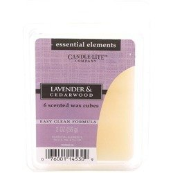 Candle-lite Essential Elements Wax Cubes 2 oz wosk zapachowy sojowy z olejkami eterycznymi 56 g ~ 10 h - Lavender & Cedarwood