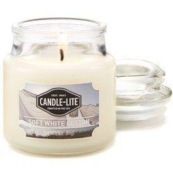 Candle-lite Everyday Collection 3 oz świeca zapachowa w szkle z pokrywką 85 g - Soft White Cotton