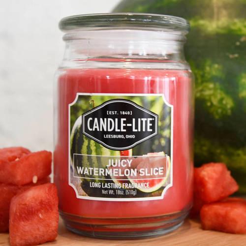 Candle-lite Everyday duża świeca zapachowa w szklanym słoju 145/100 mm 510 g ~ 110 h – Juicy Watermelon Slice