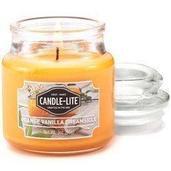 Candle-lite Everyday mała świeca zapachowa w szkle z pokrywką 95/60 mm 85 g - Orange Vanilla Dreamsicle