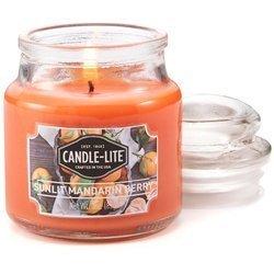 Candle-lite Everyday mała świeca zapachowa w szkle z pokrywką 95/60 mm 85 g - Sunlit Mandarin Berry