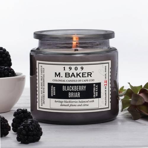 Colonial Candle M. Baker duża sojowa świeca zapachowa w słoju 14 oz 396 g - Blackberry Briar