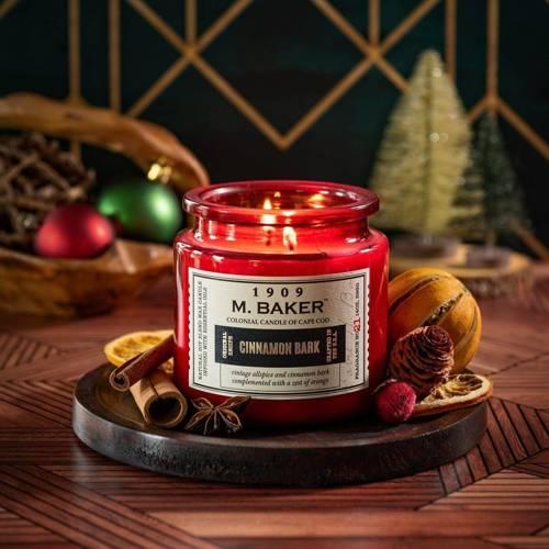 Colonial Candle M. Baker duża sojowa świeca zapachowa w słoju 14 oz 396 g - Cinnamon Bark