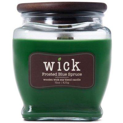 Colonial Candle Wick sojowa świeca zapachowa drewniany knot 15 oz 425 g - Frosted Blue Spruce