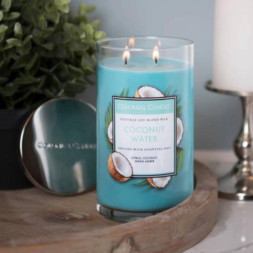 Colonial Candle duża świeca zapachowa sojowa w szkle tumbler 18 oz 510 g - Coconut Water