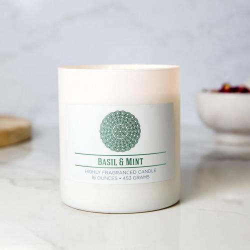 Colonial Candle świeca zapachowa sojowa w szkle naturalna 16 oz 453 g - Basil & Mint