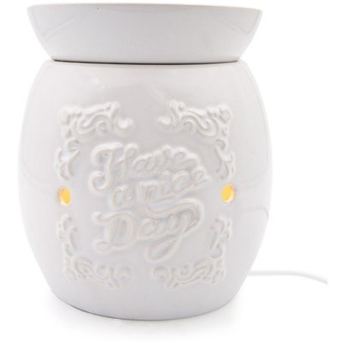 Kominek do wosków zapachowych elektryczny ze zdejmowaną misą Boro - Biały