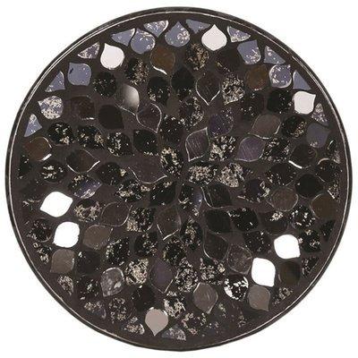 Woodbridge podstawka pod świecę 16 cm mozaika Black Mirror Teardrop