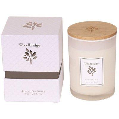 Woodbridge świeca zapachowa sojowa w szkle 270 g pudełko - Black Fig & Cassis