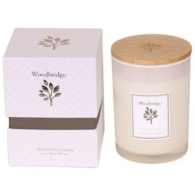 Woodbridge świeca zapachowa sojowa w szkle 270 g pudełko - Lime Over Mango