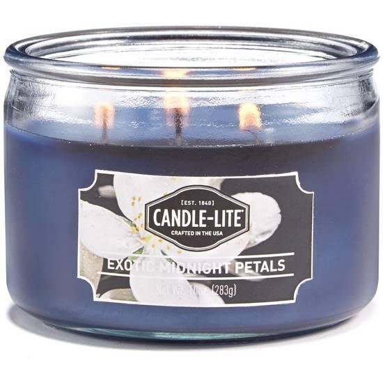 Candle-lite Everyday świeca zapachowa w szkle z trzema knotami 82/105 mm 283 g - Exotic Midnight Petals
