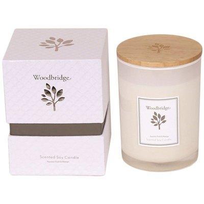 Свеча Woodbridge с ароматом сои в стеклянной коробке 270 г - Passion Fruit & Mango