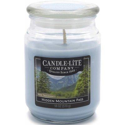 Candle-lite Everyday duża świeca zapachowa w szklanym słoju 145/100 mm 510 g ~ 110 h – Hidden Mountain Pass