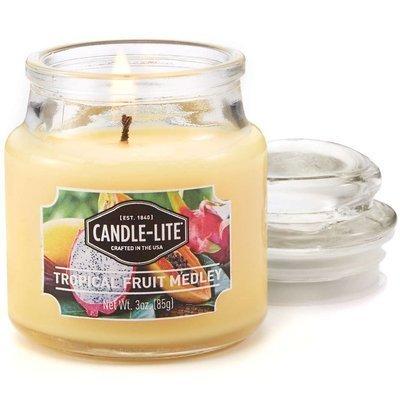 Candle-lite Everyday mała świeca zapachowa w szkle z pokrywką 95/60 mm 85 g - Tropical Fruit Medley