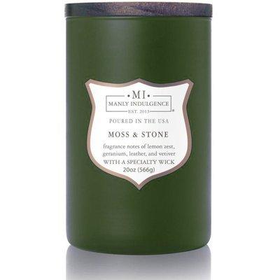 Colonial Candle Соевые ароматические свечи в стеклянном деревянном фитиле 20 унций 566 г - Moss & Stone