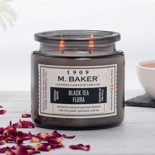 Colonial Candle M. Baker большая ароматическая соевая свеча в банке 14 унций 396 г - Black Tea Flora
