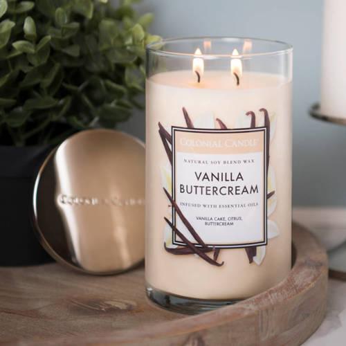 Colonial Candle duża świeca zapachowa sojowa w szkle tumbler 18 oz 510 g - Vanilla Buttercream